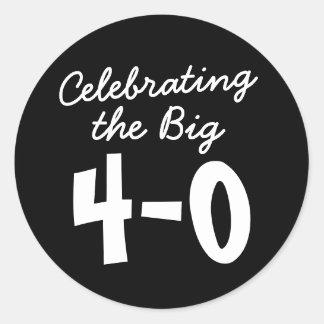 40th Birthday Celebrating the Big 4-0 Stickers