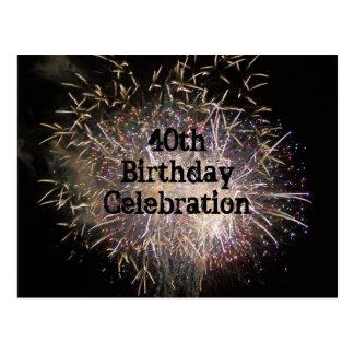 40th Birthday Celebration Postcard