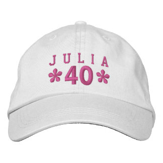 40th Birthday Custom PINK Embroidery H10E Embroidered Hat