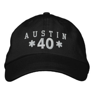 40th Birthday Custom WHITE Embroidery H10H Embroidered Hats