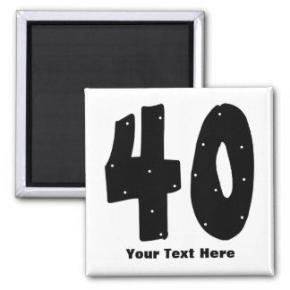 40th Birthday (customizable) Refrigerator Magnets
