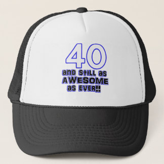 40th birthday design trucker hat