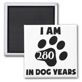 40th Birthday Dog Years Magnet