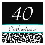 40th birthday elegant any age celebration custom invites