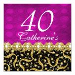 40th birthday elegant any age pink