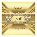 40th Birthday Elegant Zebra Gold Pearl Jewels