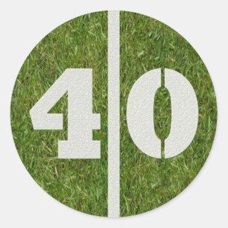 40th Birthday Football Sticker
