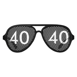 40th Birthday Gag Gift Aviator Sunglasses
