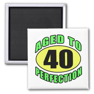 40th Birthday Gag Gifts (Spring) Square Magnet