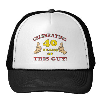 40th Birthday Gift For Him Trucker Hat