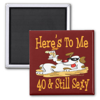 40th Birthday Gifts Square Magnet