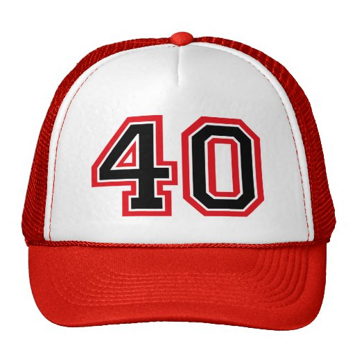 40th Birthday Mesh Hats