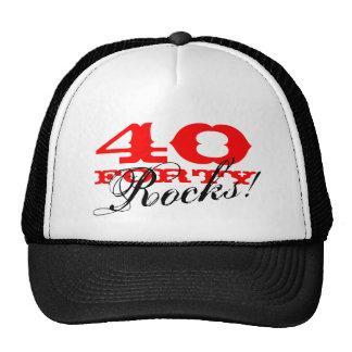 40th Birthday hat Forty Rocks