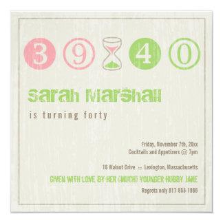 40th Birthday Invitation - Customize