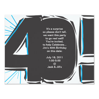 40th Birthday Invite