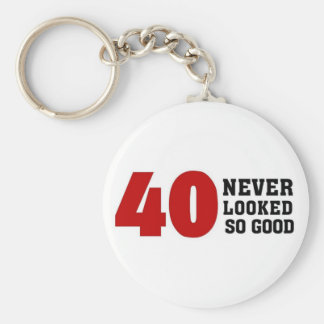 40th Birthday Keychain
