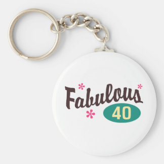 40th Birthday Keychain