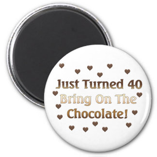 40th Birthday Means Chocolate Magnets