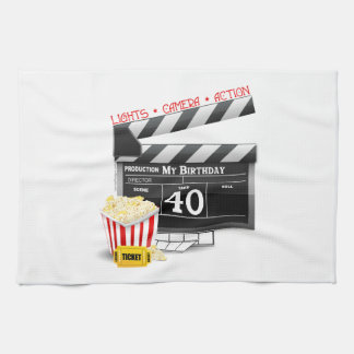 40th Birthday Movie Birthday Party Kitchen Towel