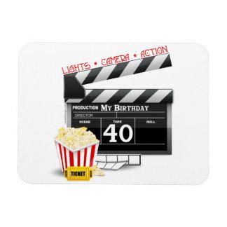 40th Birthday Movie Birthday Party Rectangular Photo Magnet