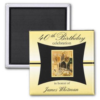 40th Birthday Party Favor/Souvenier Magnet