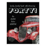 40th Birthday Party For Him - Classic Hotrod Car