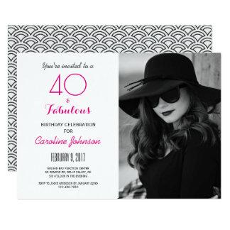 40th Birthday Party Invitation - 40 & Fabulous