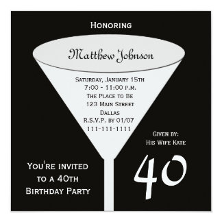 40th Birthday Party Invitation A Toast for 40