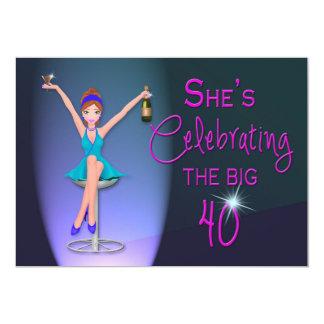 40th Birthday Party Invitation -  Flirty and Sassy