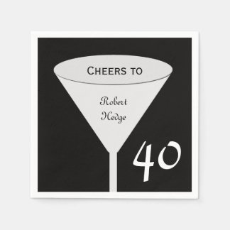 40th Birthday Party Paper Napkins