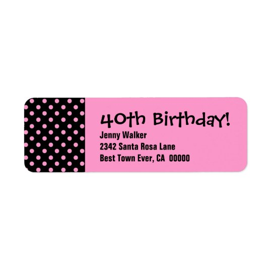 40th Birthday Party Polka Dot Pattern Personal