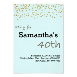 40th Birthday Personalized in Pastel Colors Card