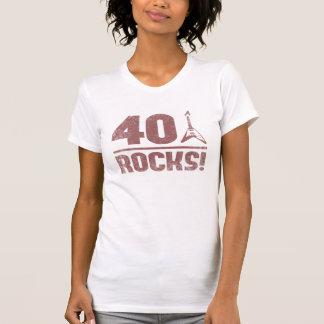 40th Birthday Rocks Tees