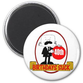 40th Birthday Sucks Gifts 2 Inch Round Magnet