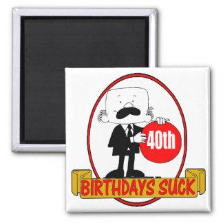 40th Birthday Sucks Gifts Refrigerator Magnets