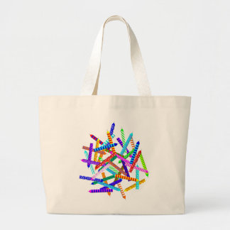 40th Birthday with Candles Large Tote Bag