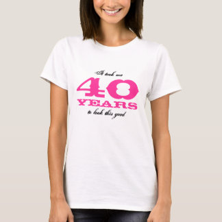 40th Bitrthday shirt for women | Personalizable