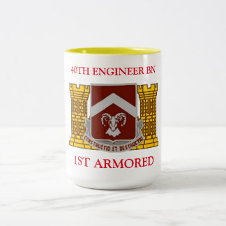 40TH ENGINEER BATTALION 1ST ARMORED MUG