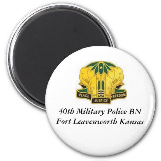 40th MP BN  Olmo, 40th Military Police BN Fort ... 2 Inch Round Magnet