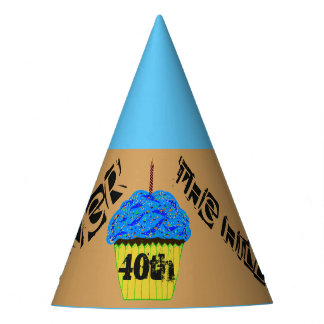 40th Over the Hill Cupcake Balloons Party Hats