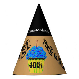 40th Over the Hill Personalized Balloon Party Hats