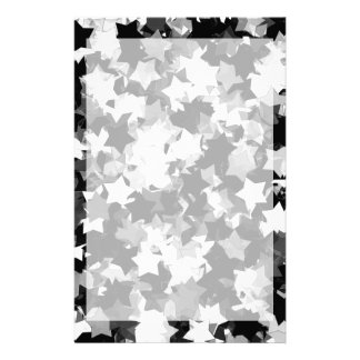 40th Party Black and White Kawaii Stars Customized Stationery