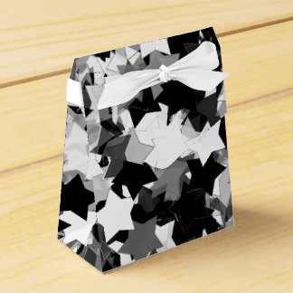 40th Party Black and White Kawaii Stars Wedding Favor Boxes