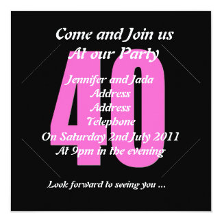 40th Party Invitation