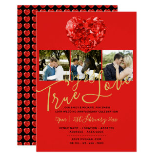 40th RUBY Wedding Anniversary DIAMOND PHOTO Invite