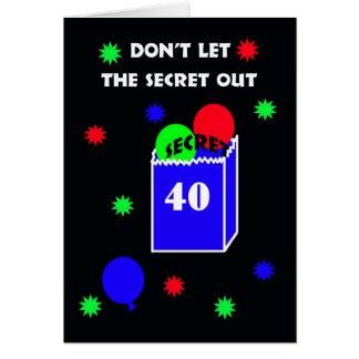 40th Surprise Birthday Party Invitation -- Secret