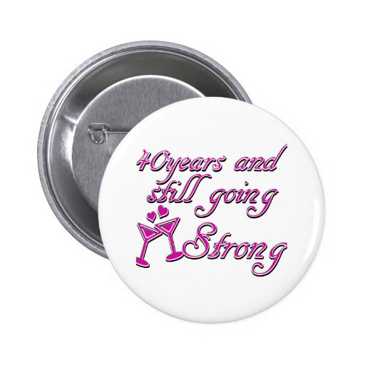 40th wedding anniversary buttons