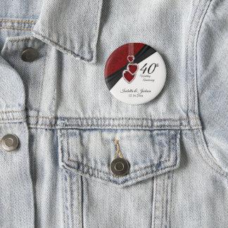 40th Wedding Anniversary Design 2 Inch Round Button
