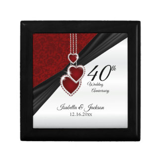 40th Wedding Anniversary Design Gift Box