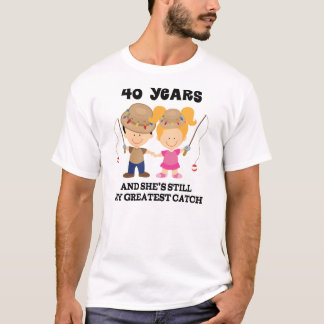 40th Wedding Anniversary Gift For Him T-Shirt
